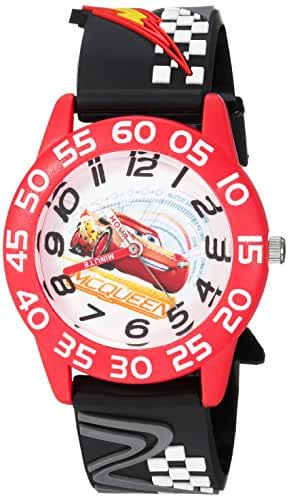 Disney Boy's 'Cars 3 Lightning' Quartz Plastic Casual Watch, Color:Black (Model: WDS000289)